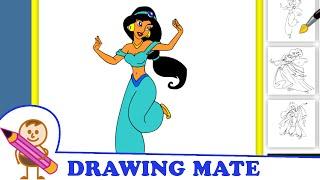 Princess Jasmine Coloring Pages for Girls ♥ Kolorowanki Malowanki dla Dzieci Księżniczka Dżasmina