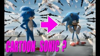 CARTOON SONIC In Sonic 2019 Trailer