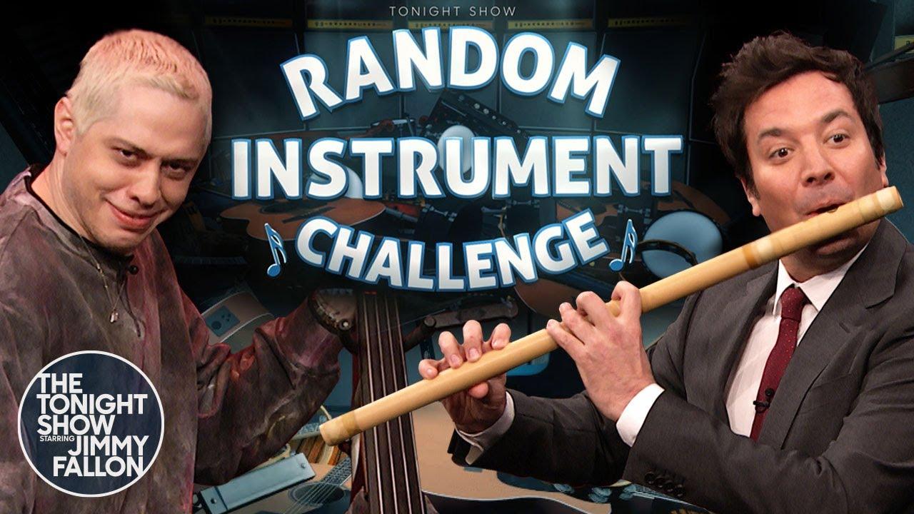Random Instrument Challenge with Pete Davidson | The Tonight Show Starring Jimmy Fallon thumbnail