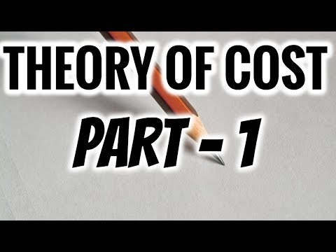 THEORY OF COST IN ECONOMICS | PART 1