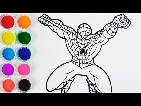 Cómo Dibujar Spiderman - Arte y Color Para Niños -  How To Draw  Spiderman /FunKeep