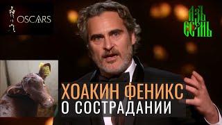 Речь Хоакина Феникса 2020 | Хоакин Феникс спас корову | Хоакин Феникс Оскар 2020 [на русском]