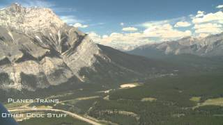 2008, Cessna 172 flight to Banff and return from Springbank