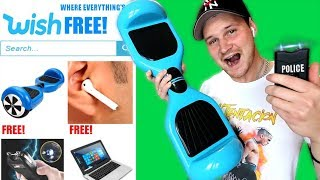 I Bought EVERY FREE Tech Item Off WISH!! (IS IT WORTH IT?!?) HOVERBOARD, AIRPODS ETC.