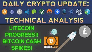 Bitcoin Cash Spikes, Litecoin Makes Moves, Binance Drama (Daily Update + Technical Analysis)