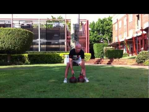 Double Kettlebell Row (Inside Knees)