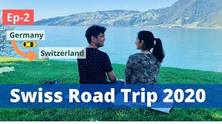 Finally In Switzerland, Road Trip Continues| Europe Highway Drive|Desi Couple On The Go Switzerland