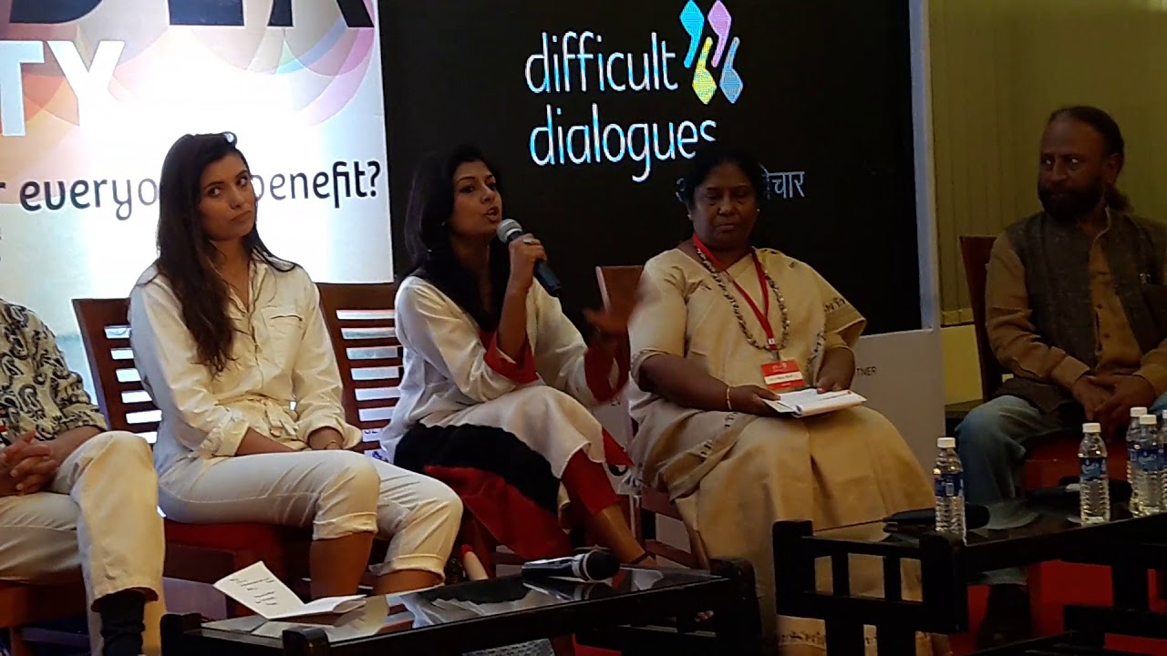 Actress Nandita Das at the Difficult Dialogues 2018