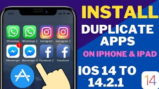New Install Duplicate Apps On iPhone & iPad iOS 14 ! Install Duplicate Apps On iOS 14 ! Latest 2021