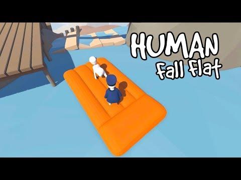 FUNNIEST RAFT RIDE! | Human Fall Flat Part 2 w/ RadioJH Games! | MicroGuardian