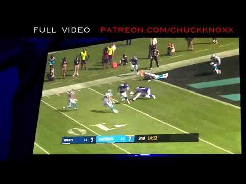 Week 5 Giants vs Panthers - Giants Fumble Everything