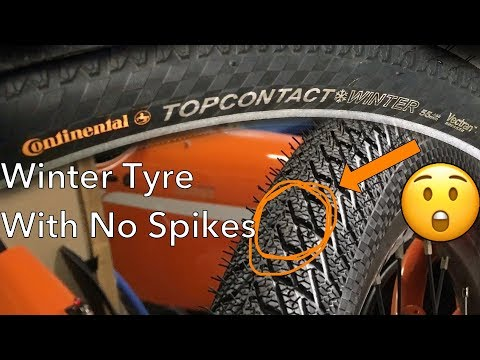 Bicycle winter tyre without spikes? – Testing Continental Topcontact Winter
