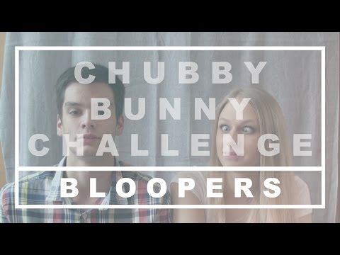 CHUBBY BUNNY CHALLENGE // BLOOPERS (ft. Kája)