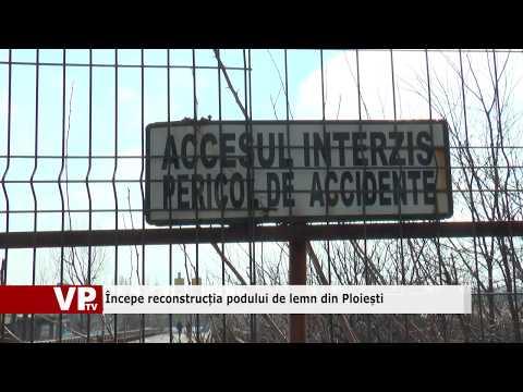 Începe reconstrucția podului de lemn din Ploiești