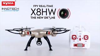 Syma X8HW drón bemutató (HD 720p 2.4GHz FPV Wifi)