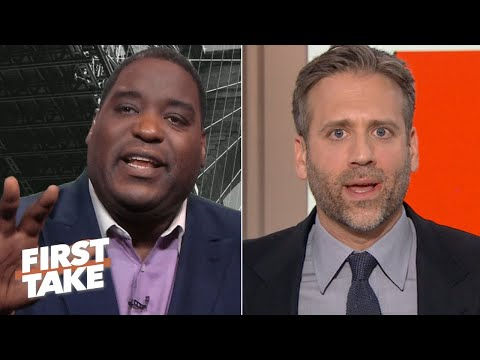 'Why are you rolling your eyes at me?' – Damien Woody and Max Kellerman get heated | First Take