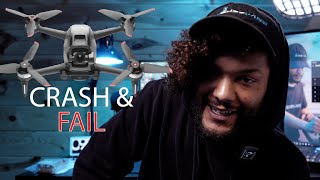 DJI FPV Drone Crash and First Thoughts as a Cinematographer - Learning FPV