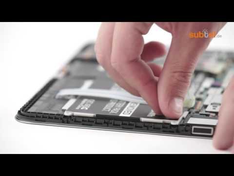 Akku wechseln Samsung Galaxy Tab 4 10.1 SM-T530 Anleitung Akkutausch Battery Replacement
