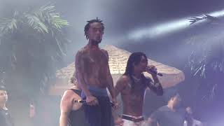 Rae Sremmurd Sway Lee gets hit in the face with phone thrown from crowd Dallas