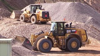 Cat 950K Wheelloader Working On A Wash Plant