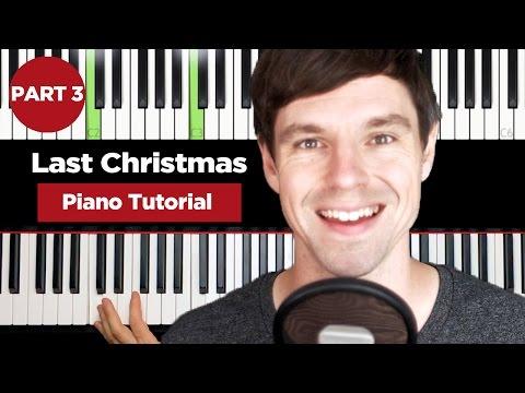 Christmas Songs – Last Christmas Wham – Piano Tutorial – Teil 3 (englisch)