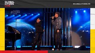 "Demi Lovato and Adam Lambert Duet ""Mad World"" | Global Citizen Live"