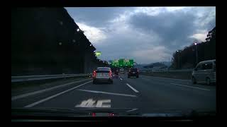 車載動画開通!!新名神高速道路長岡京ー川西
