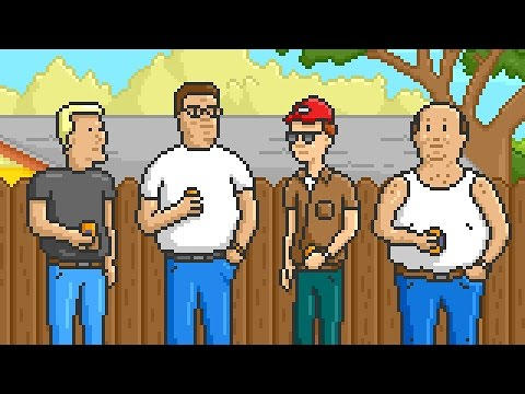 King Of The Hill's Opening As A Video Game Is Pixel Perfect