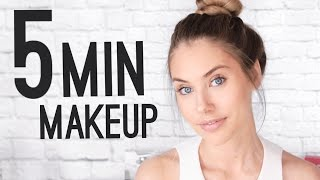 QUICK & EASY 5 MINUTE MAKEUP TUTORIAL! - Video Youtube
