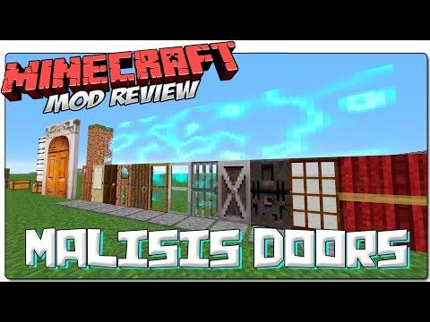 MALISIS DOORS MOD 1.7.10 ESPAÑOL | Puertas grandes, secretas y de Minecraft 1.8 | MINECRAFT MODS