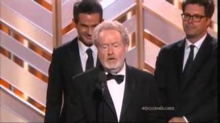 """Jim Carrey Presents Best Movie, Comedy Award To """"The Martian"""" 