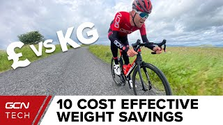 10 Cost Effective Ways To Make Your Road Bike Lighter