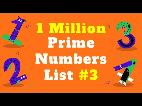 1 Million Prime Numbers List #3 | Prime Numbers up to 1 Million