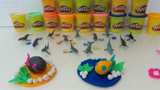 Teach You How To Make Fish And Shark Using Play-Doh
