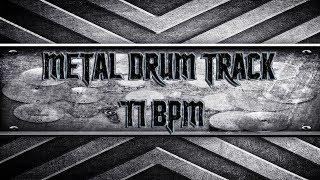 Slow Metal Drum Track 77 BPM (HQ,HD)