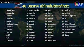 เช็คชื่อ 46 ประเทศ เข้าไทยไม่ต้องกักตัว 'บิ๊กตู่' ชี้ไทยต้องชิงเปิดประเทศ ถ้าช้า นทท.จะไปที่อื่น