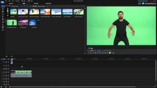 How to green screen in Cyberlink PowerDirector 14 (Chroma Key Tutorial)