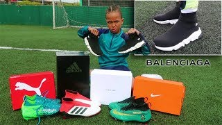 Kid Plays Football in $400 BALENCIAGA Sneakers!