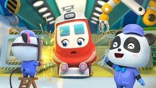 Trạm sửa tàu Kiki và Miumiu | Những đoàn tàu vui nhộn | Nhạc thiếu nhi vui nhộn | BabyBus