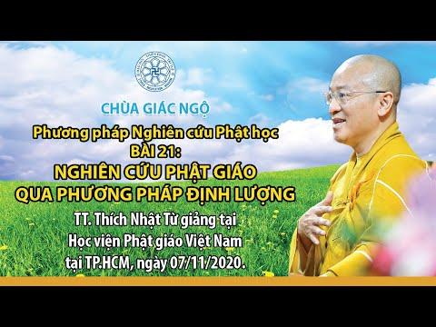 Nghiên cứu Phật giáo qua phương pháp định lượng - Phương pháp nghiên cứu Phật học