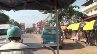preview picture of video 'Siem Reap Old Market and tuk tuk ride'