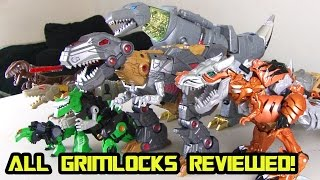 Transformers Grimlock Review - Fall of Cybertron, Vulcun, Masterpiece, Deluxe, & MORE!