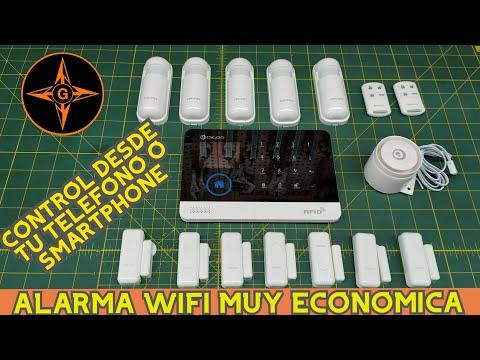 ALARMA INALAMBRICA ECONOMICA SIN CUOTAS  CON WIFI Y GSM , CONTROL DESDE TU SMARTPHONE