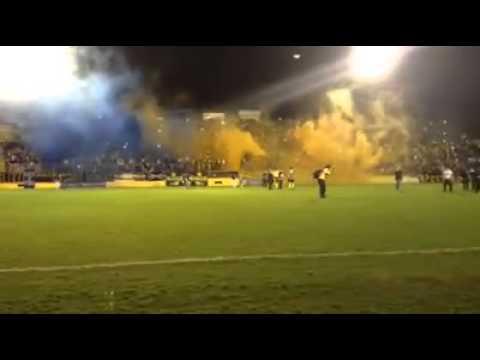 """""""E.C. Pelotas x Lajeadense - Entrada dos jogadores"""" Barra: Unidos por uma Paixão • Club: Pelotas"""