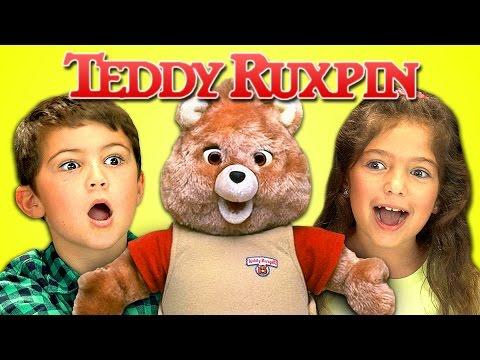 KIDS REACT TO 80's TOYS - TEDDY RUXPIN