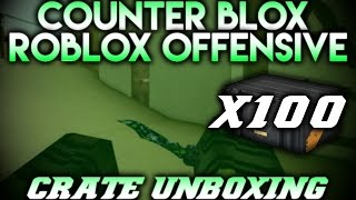 Roblox CSGO Case Opening - Unexpected Knife (x100 Cases)