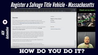 Register a Salvage Title Car in Massachusetts