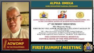 🛑 ALPHA OMEGA WDMP First Summit Meeting (2020.01.25)