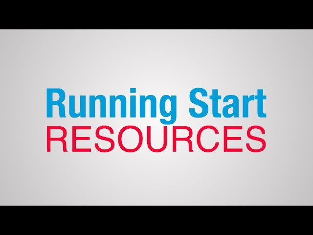 Running Start Resources