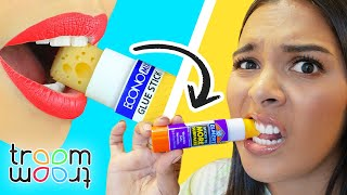 Trying 14 Weird Ways To Sneak Food Into Class / Back To School Pranks by Troom Troom